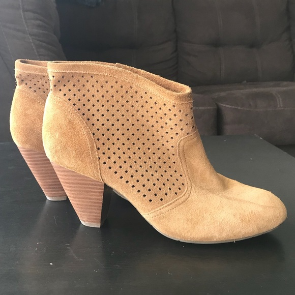 1c794594f28 Jessica Simpson Shoes - Jessica Simpson Perforated Suede Ankle Booties